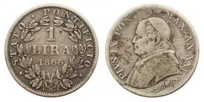 Pápai Állam 1 lira 1866 R