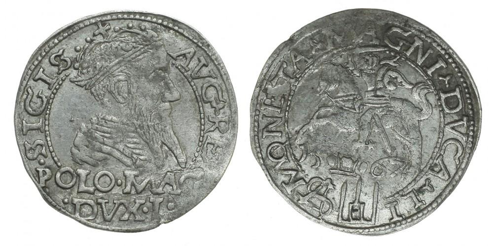 Lengyelország-Litvánia Zsigmond Ágost garas 1567 Tykocin R!