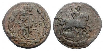 Oroszország II. Katalin 1 kopek 1789 EM