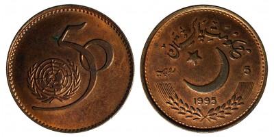 Pakisztán 5 rúpia 1995 50 éves az ENSZ