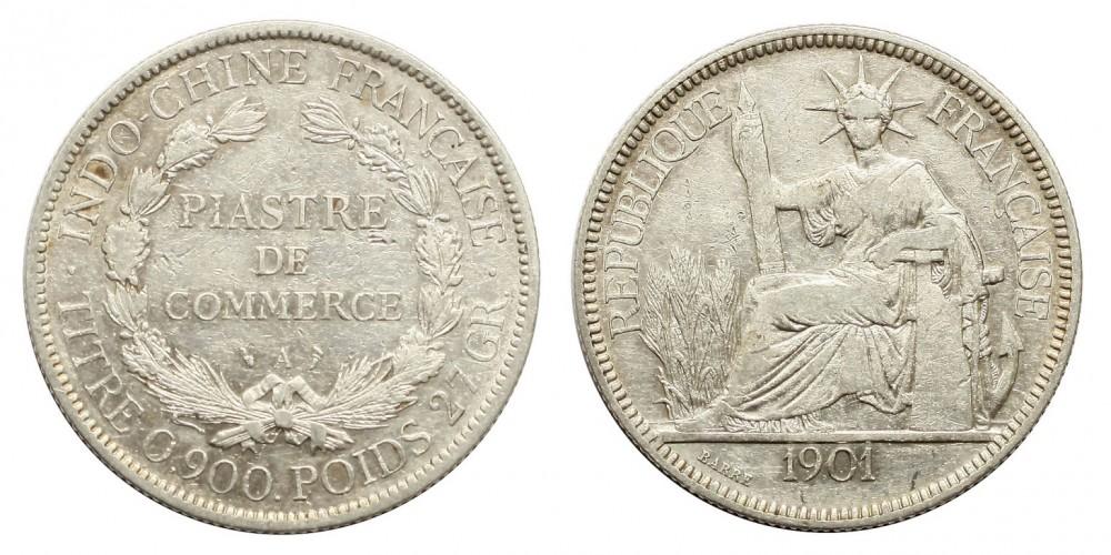 Francia Indokína piaszter 1901