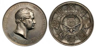 Németország Poroszország IV. Frigyes Vilmos koronázási érem 1840
