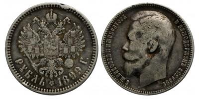 Oroszország II. Miklós 1 rubel 1899