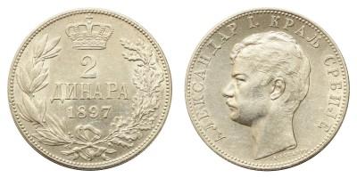 Szerbia 2 dinár 1897