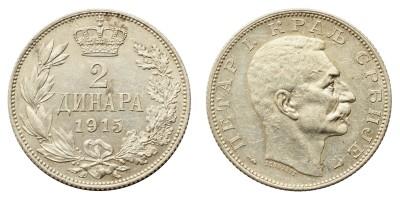Szerbia 2 dinár 1915