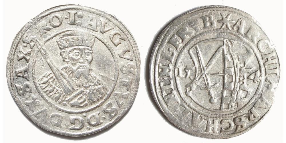 Németország Szászország August 1/4 tallér 1554 Freiberg