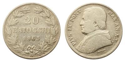 Vatikán 20 baiocchi 1865