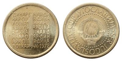 Jugoszlávia 1 dinar 1978 Próba