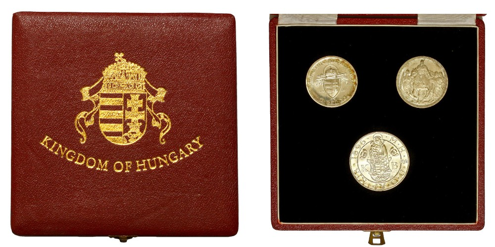 Díszdobozos Magyar Királyság ezüst sorozat