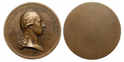 II. Ferenc egyoldalas bronz érem