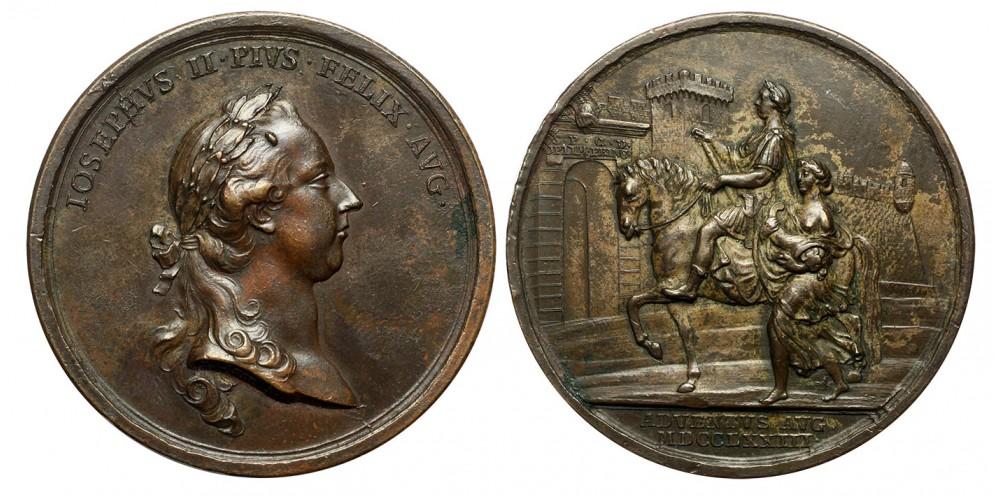 II. József megérkezése Erdélybe emlékérem 1773
