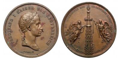 V. Ferdinánd Stephansdom tornyának újjáépítésére 1843 emlékérem
