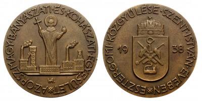 Magyar Bányászati és Kohászati Egyesület Szent István Év 1938 emlékérem