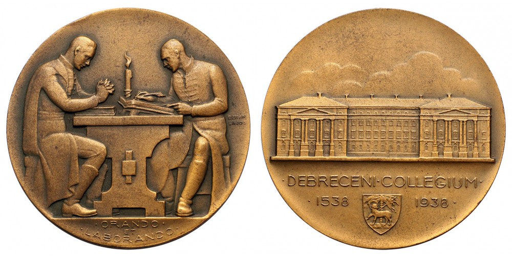 Debreceni Kollégium 1538-1938 emlékérem