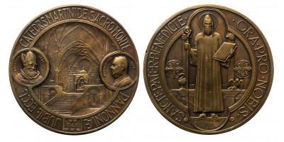 Szent Benedek - Pannonhalma templomszentelés 1225-1925 érem