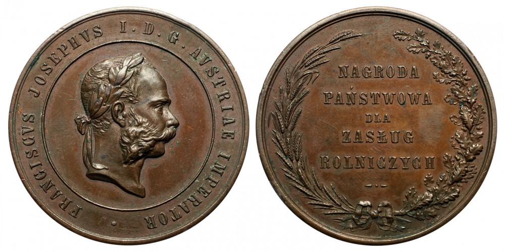 Lengyelország Galícia Ferenc József mezőgazdaság terén szerzett érdemekért díjérem R!