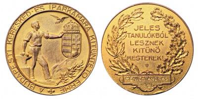 Budapesti Kereskedelmi és Iparkamara kitüntető érme 1926