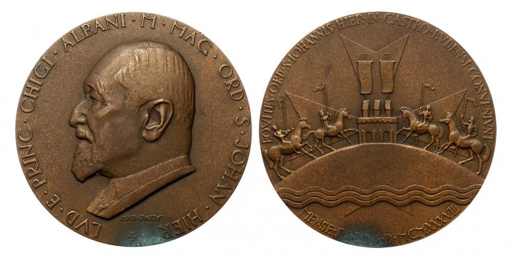 Herceg Chigi Albani a Máltai Lovagrend nagymestere emlékérem 1938