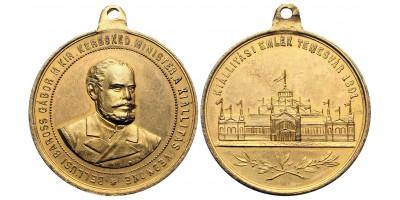 Kiállítási Emlék Temesvár 1891 Baross Gábor
