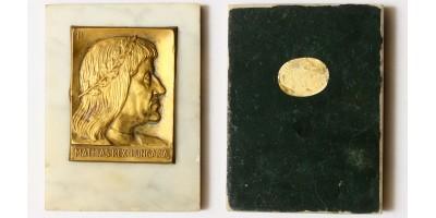 Mátyás király plakett márványlapon, Ludvig