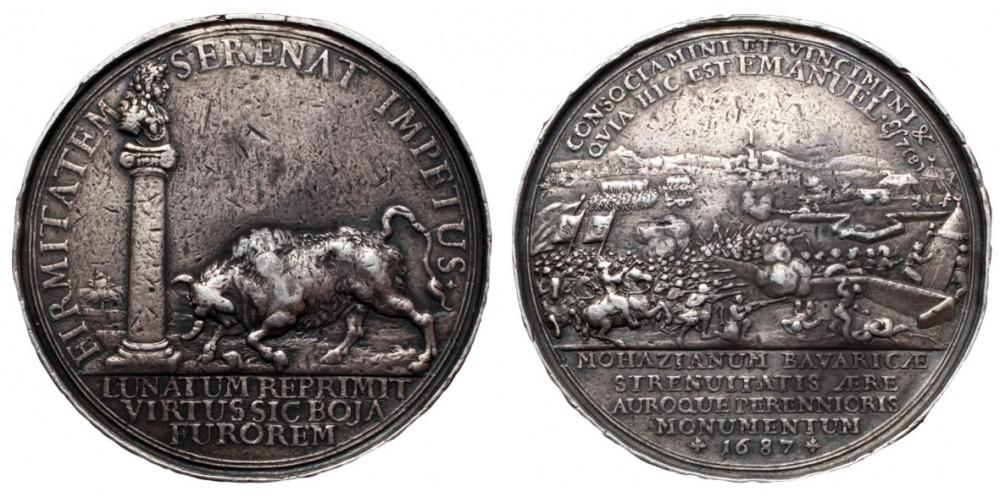 Második mohácsi csata visszafoglalási érem 1687