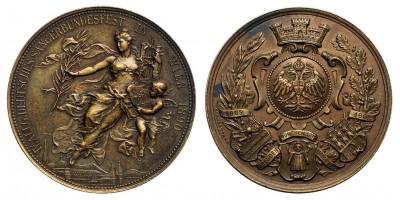 Német Dalfesztivál Bécs 1890 emlékérem