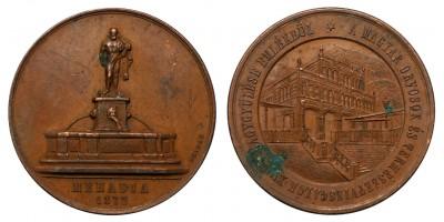 Magyar Orvosok és Természetvizsgálók XVI. Nagygyűlése Mehadia 1872 emlékérem