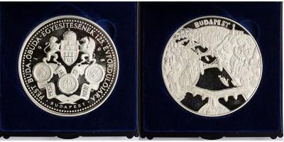 Budapest egyesítésének 125.évfordulójára ezüst érem.