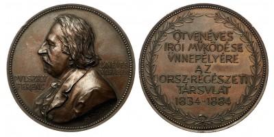 Pulszky Ferenc Országos Régészeti Társulat 1834-1884 emlékérem, A. Scharff