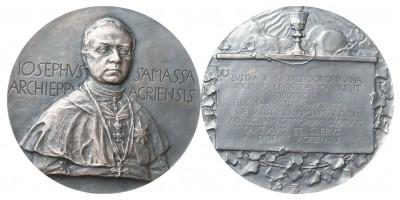 Samassa József egri érsek 50. jubileuma 1902 ezüst emlékérem R!