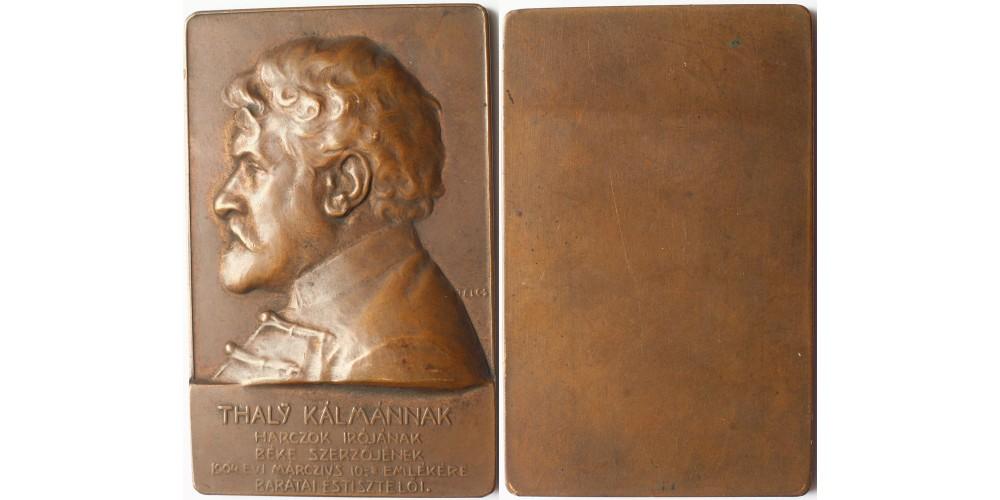 Thaly Kálmán plakett 1904