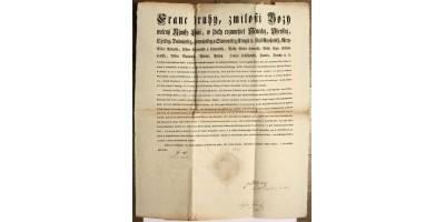 II. Ferenc rendelete sajátkezű aláírásával Pozsony 1802