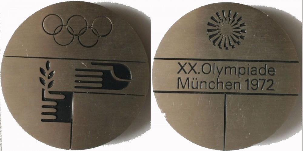1972 München Nyári Olimpia résztvevői érem