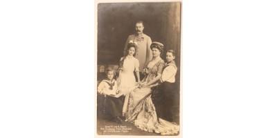 Ferenc Ferdinánd trónörökös és családja képeslap