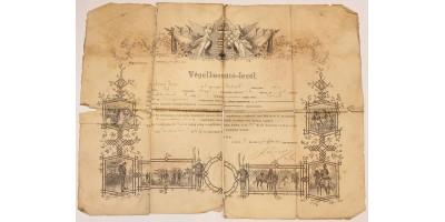 Honvéd gyalogféldandár obsit  1889