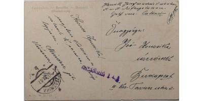 Képeslap a zelenikai Tengeri Repülő Állomásról küldve 1917