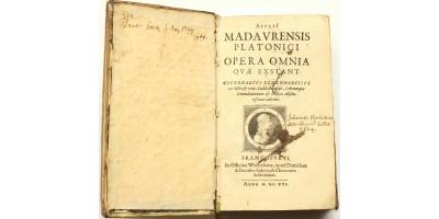 Apuleius összes művei (Frankfurt 1621) Celje polgármesterének szignójával!