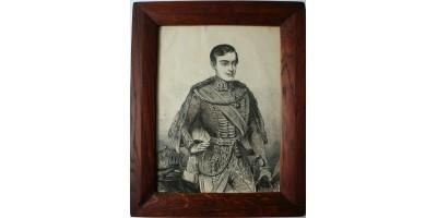 Ferenc József fiatalkori portréja 19. század