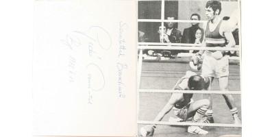 Gedó György olimpiai bajnok ökölvívó aláírása 1978