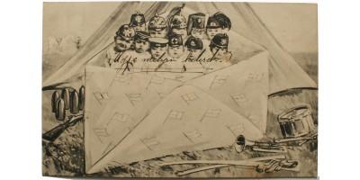 Hármas Szövetség propaganda képeslap 1912