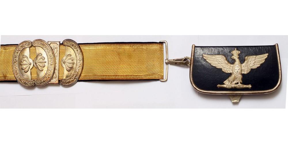 Olasz Királyság tiszti kartus (patrontáska), vállapok, epolettek