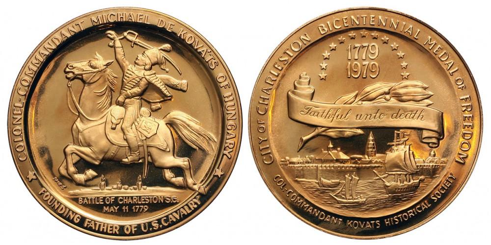 USA Charlestoni csata 1779-1979 Fabriczy Kováts Mihály emlékérem