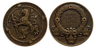 Svédország Kronoberg ezred 1623-1923 emlékérem