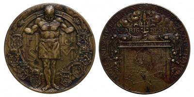 HIJSM Holland Vasúttársaság 75. évforduló 1839-1914 emlékérem