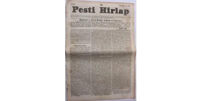 Pesti Hírlap 1841. november 10. szerkeszti: Kossuth Lajos