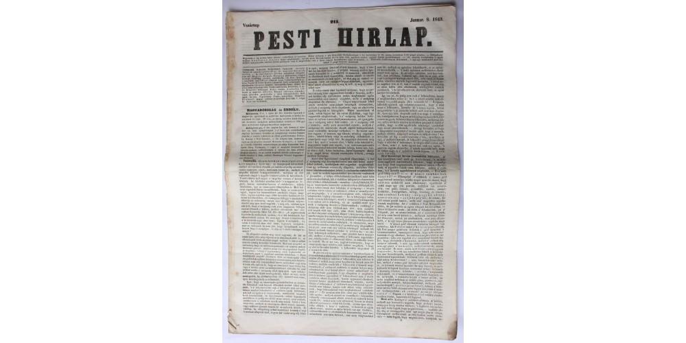 Pesti Hírlap 1843. január 8. szerkeszti: Kossuth Lajos