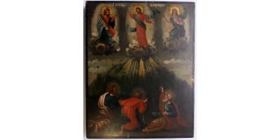 Orosz Krisztus Színeváltozása ikon 19. század
