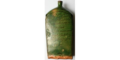 Magyar népi névre szóló butélia 1882