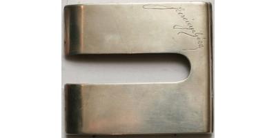 Névre szóló ezüst cigarettatartó