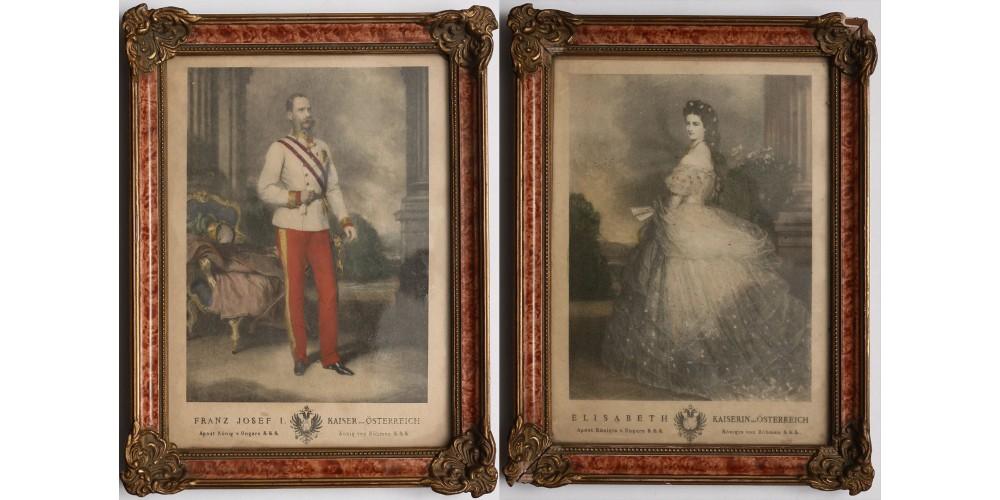 Ferenc József és Erzsébet királyné portréja, Winterhalter 1865
